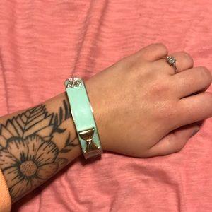 Jewelry - Mint green bow bangle.
